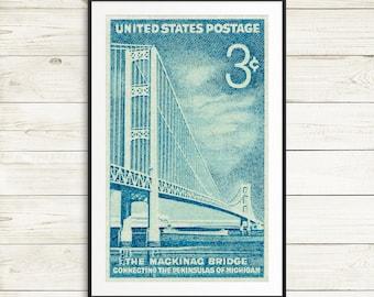 mackinac bridge, michigan mackinac bridge, mackinac bridge michigan, mackinac bridge print, bridge michigan, mackinac michigan, posters