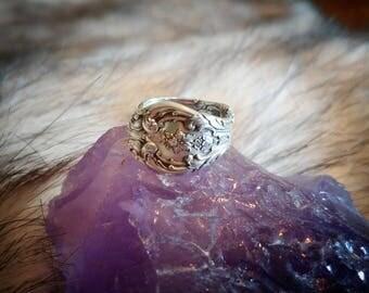 1930s Vintage King Edward Ladies Spoon Ring