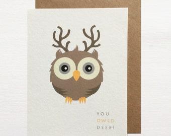 You Owld Deer Greetings Card