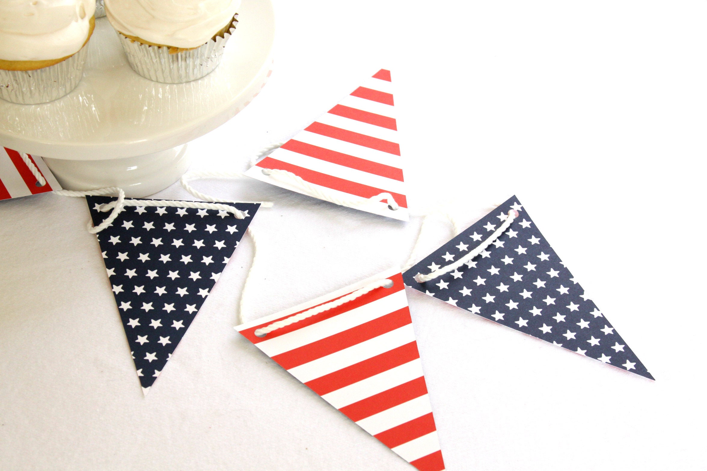 Couples Shower Ideas, Patriotic Red White and Blue Bunting, Cookout Banner,  Backyard BBQ Decorations, Americana Picnic Supplies, Baby Q