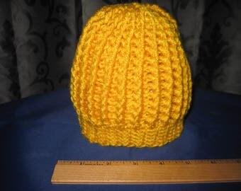 yellow baby beanie