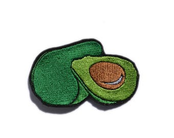 Avocado Iron On Patch, Fruit Sew-On Patch, Embroidered Applique, Embroidered patch