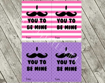 I mustache you to be mine Valentine card