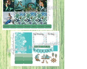 Fantasy Mermaids..Weekly Kit for Erin Condren or Happy Planner