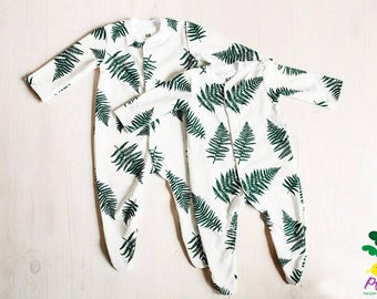 Fern baby Sleepsuits, baby onepiece, sleepsuits, baby sleepware Unisex baby clothes Pregnant Mom Gift baby clothes