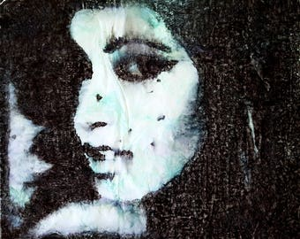 Amy - 01 (n.326) - 71,00 x 58,00 x 2,50 cm - ready to hang - mix media painting on stretched canvas