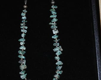 Sterling Silver Blue Turquoise Nugget Necklace
