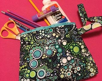 Mermaid inspired makeup/clutch bag