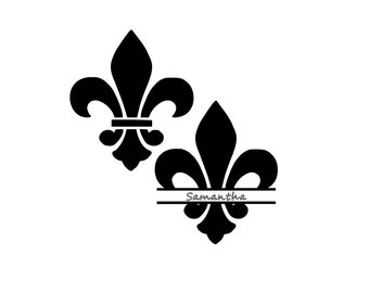 Fleur De Lis Decal With or Without Name