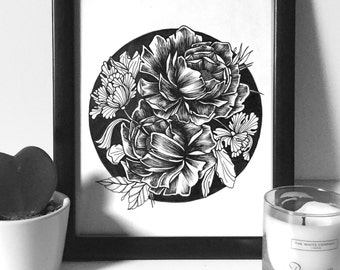 Floral Set of 3 A4 Prints