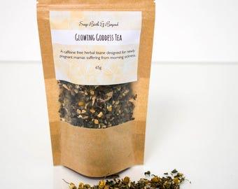 Morning sickness tea- herbal tea - organic - ginger- peppermint FREE SHIPPING