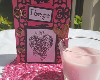 I Love You Handmade Greeting Card