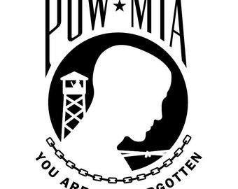 POW-MIA Decal