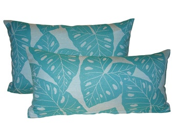 set of 2 sunbrella pillow covers radiant throw pillow covers banana leaf pillows