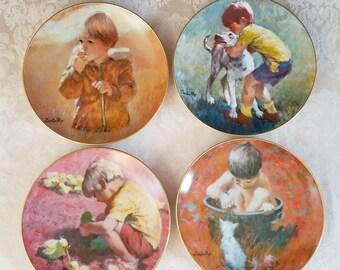 Viletta Collector Plates, Thornton Utz - Set of 4 - 1982