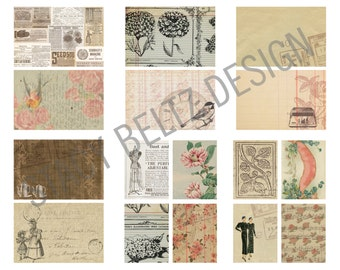 Vintage Ladies and Birds Journaling Cards