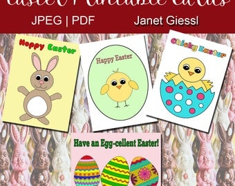Easter Printable Cards - Set of 4