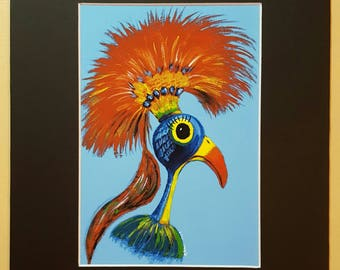 Pretty Polly Art Print with mat