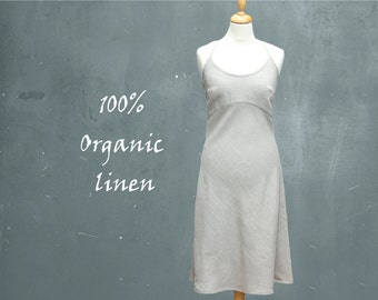 organic linen summer dress, linen beach dress, recyclable dress, fair trade dress, fair trade, fair fashion, sustainable clothing