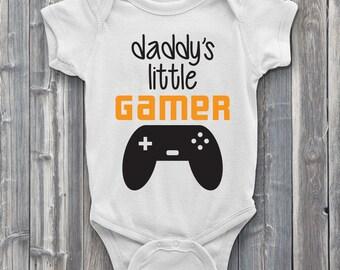Daddy's little gamer onesie, gamer baby onesies, onsie, nerd onesies, gaming baby, bodysuit