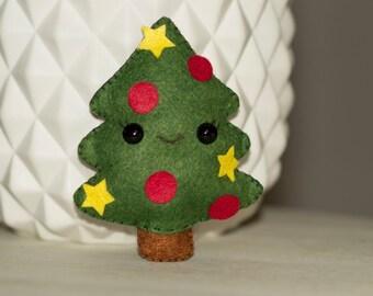 Mini Christmas tree plush felt