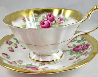 Queen Anne Bone China Cup and Saucer