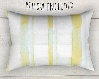 Yellow Plaid Pillow, Rectangle Pillow, Yellow Mint Pillow, Rectangular Pillow, Rectangular Throw Pillow, Decorative Pillows, Home Decor