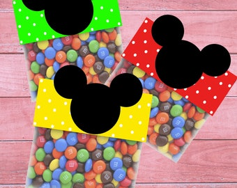 80% OFF SALE Mickey Mouse Bag Toppers, Mickey Mouse Goodie Bags, Mickey Mouse Treat Bags, Mickey Mouse Party, Bag Toppers