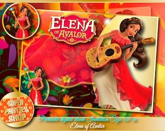 Elena of Avalor Digital Printable blank invitation, elena of avalor Party,Elena of Avalor ,Birthday,elena of avalor party, blank invitation