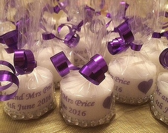 Personalised Wedding Favours Large Tea lights x 10, Wedding, Candles, Favours, Favors, Custom Made Favours, Choose your colour, Inexpensive