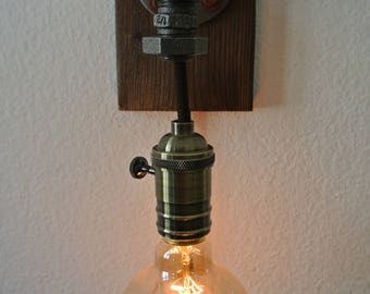 Old school Steampunklampe / / steampunk lamp