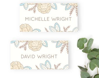 Happily Ever After Wedding Name Place Card