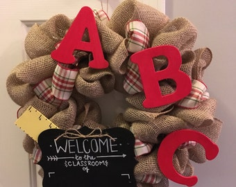 Teacher's Gift Classroom Wreath