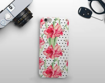 Flowers and Dots Phone Case