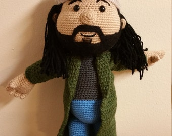 Handmade Silent Bob crochet made to order (mini size available also on site)