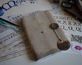 handbound leather notebook