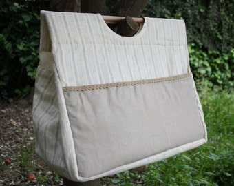 Baptism/Christening Bag Carriage/Baptism Fabric Keepsake Bag/Christening Box/Large Linen Tote Bag/Greek Orthodox Baptism