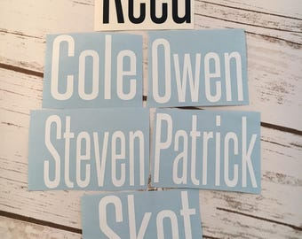Groomsmen Name Decals, Groomsmen Gifts, Groomsmen Yeti Decals, Custom Name Decals