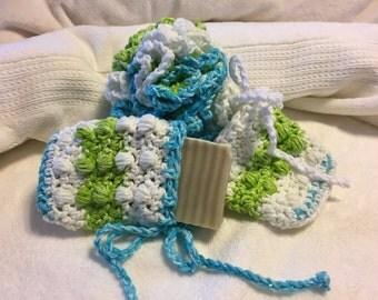 Essential Cotton Bath Scrubby Set