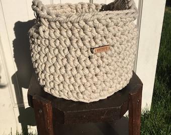 Chunky Cream Rope Storage Basket