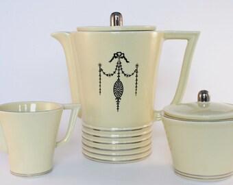 Art Deco Efcolite China Brew-Best Coffee Serving Set