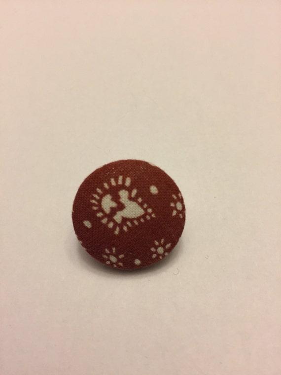 Vintage Funky Brown Pin