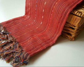 Turkish BATH Towel Peshtemal red- natural / organic cotton / %100 cotton Beach, Spa, Swim, Pool Towels and Pareo