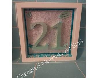 Number birthday frame