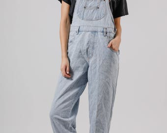 Vintage Light Blue Denim Overalls