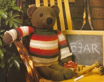 Vintage Sweatered Bear Crochet Pattern