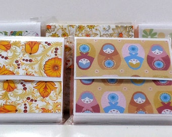 Hand covered coloured Sticky note pads