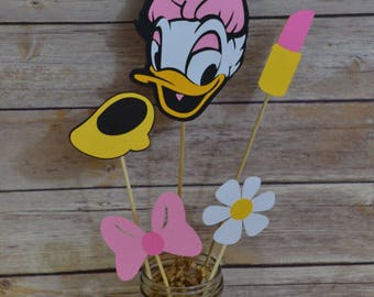 Daisy Duck Centerpiece, Mickey mouse clubhouse, Mickey mouse party decorations, happy birthday, mickey birthday banner, Birthday decorations