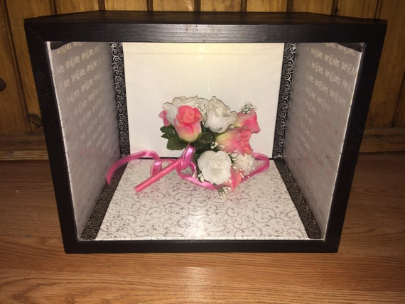 "Shadow Box 11x14  11"" deep Custom Wide Wedding Mr&Mrs Memory Special Event"