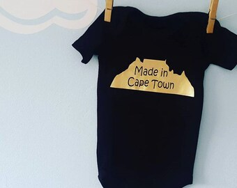 Made in CAPE TOWN Baby Onesie - baby bodysuit - baby grow - baby bodyvest - Baby clothes - Baby Shower